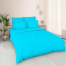 Ткань бязь 220 см цвет Голубой пл.120 г.м²