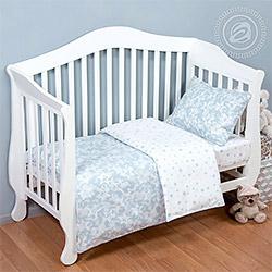 Ткань поплин 150 см Звездочет серый детский (компаньон Я005270)