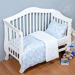 Поплин 150 см Звездочет голубой детский (компаньон Я005272)