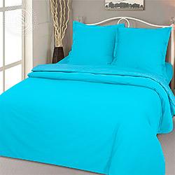 Ткань поплин 220 см, гладкокрашеный цвет Голубой