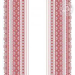 Ткань рогожка 150 см, рисунок Каравай