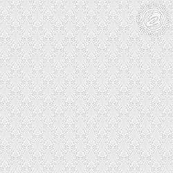 Ткань рогожка 150 см, рисунок Вензель светло серый