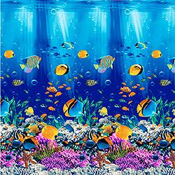 Вафельное полотно 150 см Подводный мир 1