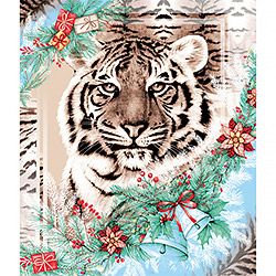Вафельное полотно 50 см Год тигра 1