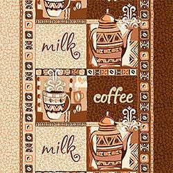 Ткань вафельное полотно 50 см Кофе 1