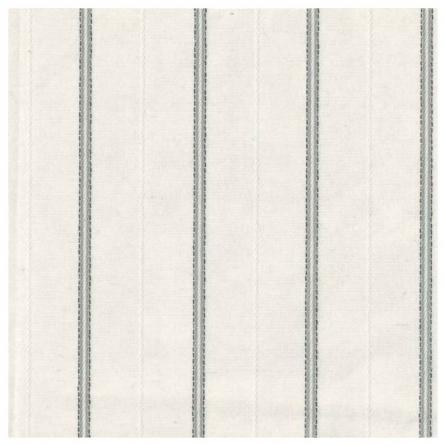 Тик матрасный смесовый, пл.130 г.м², полосы. Цвет белый. Вид 1