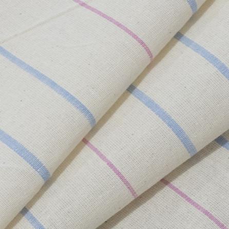 Тик матрасный суровый цветная полоса, пл.165 г.м², полосы. Цвет серый. Вид 1
