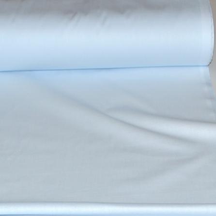 Тик наволочный голубой, пл.165 г.м², однотонный. Цвет голубой. Вид 1