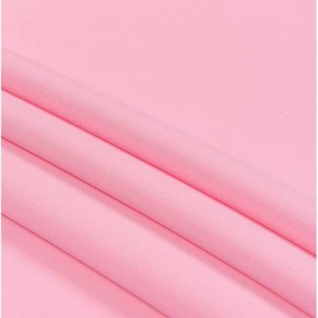 Тик наволочный розовый, пл.135 г.м², однотонный. Цвет розовый. Вид 1