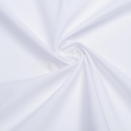 Тиси отбеленная с вискозой, однотонный. Цвет белый. Вид 1